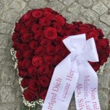 Rotes Rosen Herz